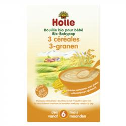 Holle - Bouillie aux 3 céréales pour bébé bio 250 G