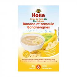 Holle - Bouillie banane et semoule pour bébé bio 250 G