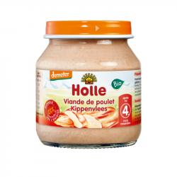 Holle - Petit pot pour bébé viande de poulet bio 125 G