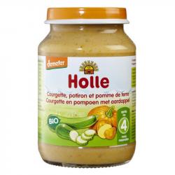 Holle - Petit pot pour bébé courgette potiron p.de terre bio 190 G