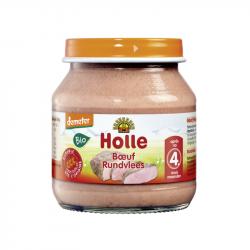 Holle - Petit pot pour bébé boeuf bio 125 G