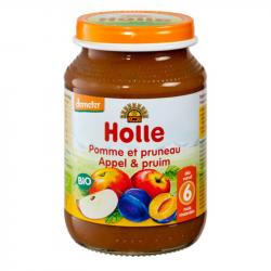 Holle - Petit pot pour bébé pomme et pruneau bio 190 G