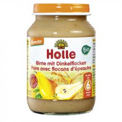 Holle - Petit pot pour bébé poire flocons d'épeautre bio 190 G