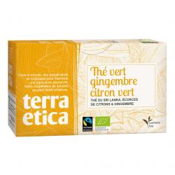 TerraEtica - Groene thee Gember - Limoen Ceylan 36gram