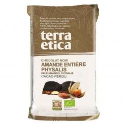 TerraEtica - Pure chocolate bar whole almonds phyaslis 100gram