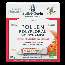Ballot-Flurin - Pollen Polyfloral Dynamisé Bio AB*, 21 sticks 126g