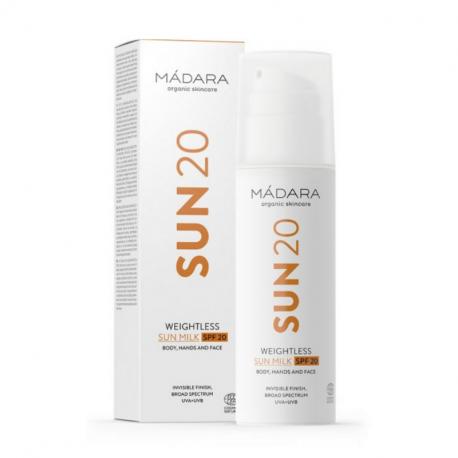 Mádara - Weightless sunmilk SPF20 150ml