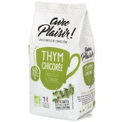 avec Plaisir ! - Tisane thyme chicory in Bulk Bio 125g