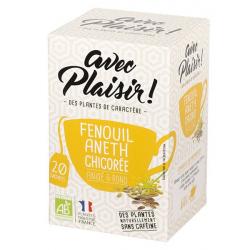 avec Plaisir ! - Tisane fennel dill chicory 20 teabags Bio 36g