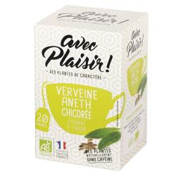 avec Plaisir ! - Tisane verbena dill chicory 20 teabags Bio 30g