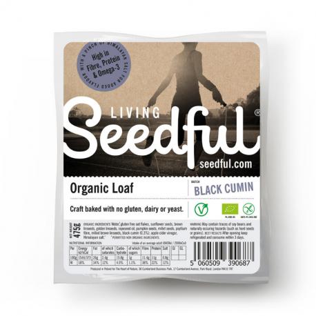 Heart of Nature - Pure Grain Bread Black Cumin Unsliced GF Organic 485g