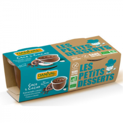Danival - Dessert Lait de Coco & Cacao s.gluten/s.soja Bio 2x110g