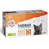 Yarrah - Organic MultiPack Kat Pate Rund, Kip, Zalm Bio