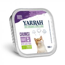 Yarrah - Bouchées biologiques au poulet et à la dinde pour chat - 100g