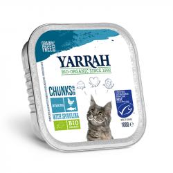 Yarrah - organic cat food chunks with fish- 100g