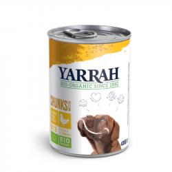 Yarrah - organic dog food chunks with chicken - 820g