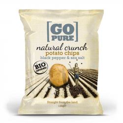 Go Pure - Organic Nat.Crunch Seasalt Black Pepper 125g