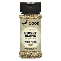 COOK - Organic Whole White Pepper 50 Gr