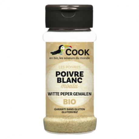 COOK - Poivre Blanc Moulu Bio 45 Gr