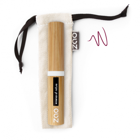 ZAO - Eyeliner rechargeable pinceau brun foncé BIO