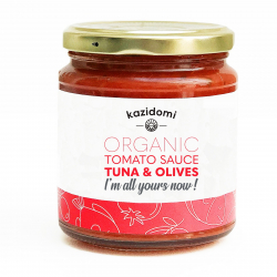 Kazidomi - Tomato Sauce Tuna & Olives Organic 300g