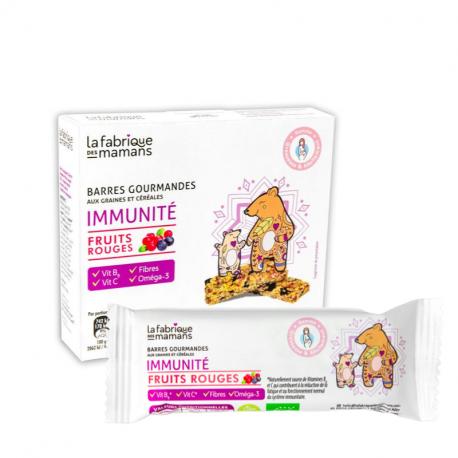 4 Barres gourmandes Immunité Fruits rouges Bio 144g