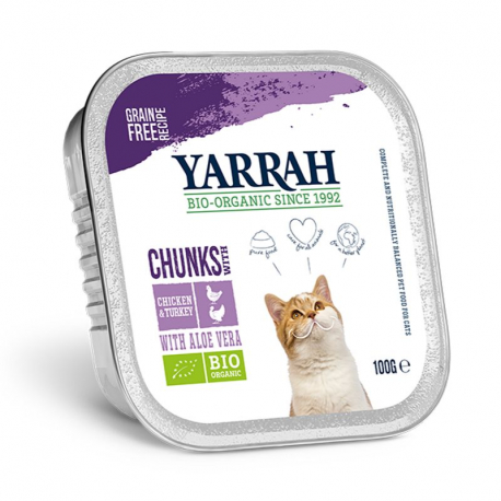 chicken and turkey cat food bites Organic 100g