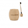 Bamboo toothbrush holder
