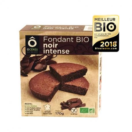Happy Go - Moelleux Fondant noir intense Bio 170g (sans gluten et sans lactose)