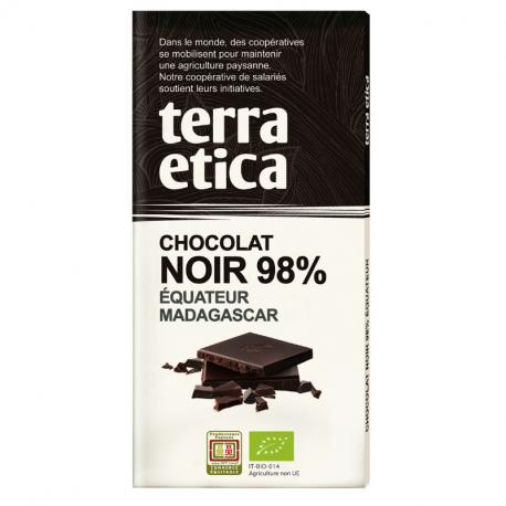 TerraEtica - Dark Chocolate 98% Ecuador - Grand Cru Sambirano Organic 100g