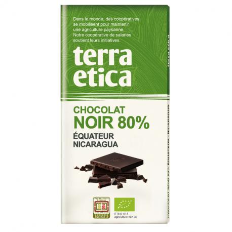 TerraEtica - Noir 80% Equateur - Nicaragua Grand Cru 100gram