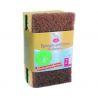 Ecological green scraping sponges 2 pieces