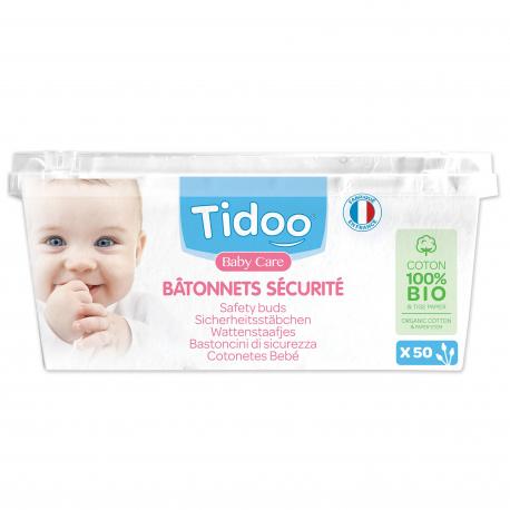 Tidoo Care - Wattenstaafjes bio voor baby - x56