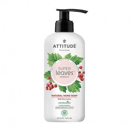 Attitude - SuperLeaves Natural Hand Soap Red Vinde Leaves - 473ml