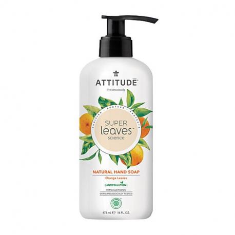 Attitude - SuperLeaves Sinaasappel Natuurlijke Hand Zeep - 473ml
