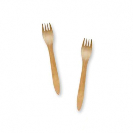 100 forks made of poplar wood