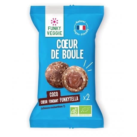 Funky Veggie - Coeur de boule coco funkytella (choco-noisettes) 44g