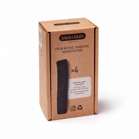 Black&Blum - Charbon actif purificateur d'eau pack de 4