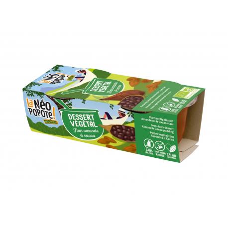 Danival - Dessert almond flan & choc. w.gluten & organic 2x110g