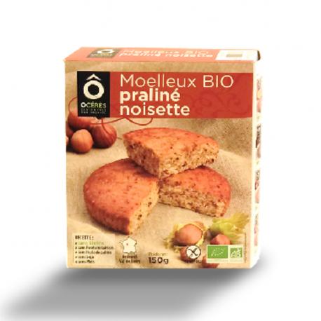 Happy Go - Soft Organic Cake Hazelnut Praline 150 g (Gluten & lactose Free)