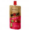 Voedingspuree met frambozen, aardbeien en basilicum Bio