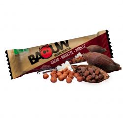 Voedingsreep met fairtrade cacao, hazelnoten en vanille Bio