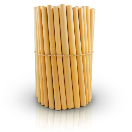 Bambaw - 12 bamboe rietje 14cm