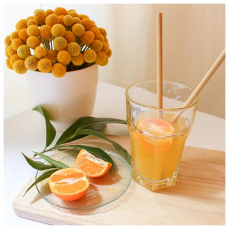 Bambaw - 12 Pailles en bambou Mix (6 pailles de 22cm et 6 pailles de 14cm)