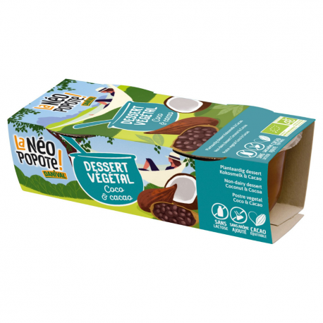 Danival - Dessert coconut milk & cocoa w.gluten/w.soya organic 2x110g