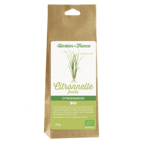 Feuilles de Citronnelle - Bio - L'herbier de France - 40g