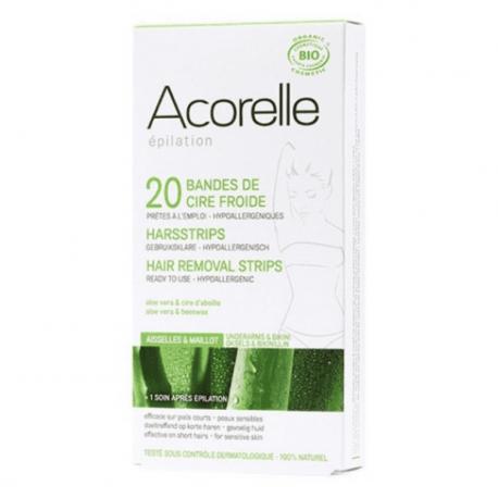 Acorelle - Hair Removal Strips Face (bio) - 24strips