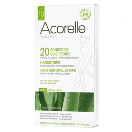 Acorelle - Harsstrips Lichaam (bio) - 20strips