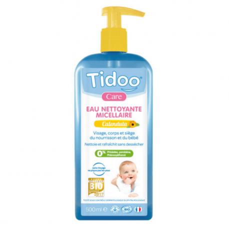 Tidoo Care - Eau Nettoyante Micellaire Bébé bio Calendula (Visage, Corps et Siège) - 500ml