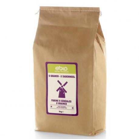 2bio - Flour 5 cereals - 2 seeds 1kg